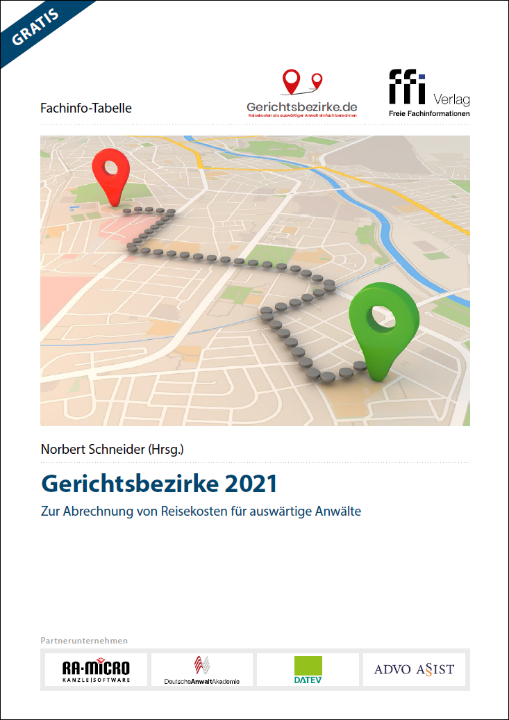 Gerichtsbezirke 2021